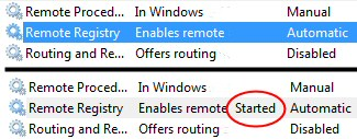 Windows 7 Enable Remote Registry - Connect to Network Registry