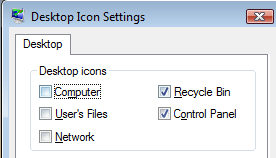 Vista Desktop Icon Settings
