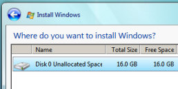 Install Windows Vista on Virtual PC