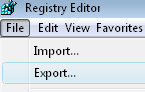 Vista registry create .reg files