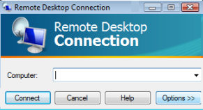 Windows Vista Remote Desktop Connection