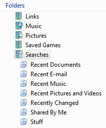 Virtual Folders in Windows Vista