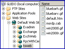 TSWEB Web Connection for Remote Desktop