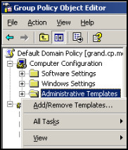 computer configuration administrative templates - windows server 2003 group policy computer hklm