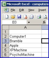 VBScript to create a computer account from a spreadsheet