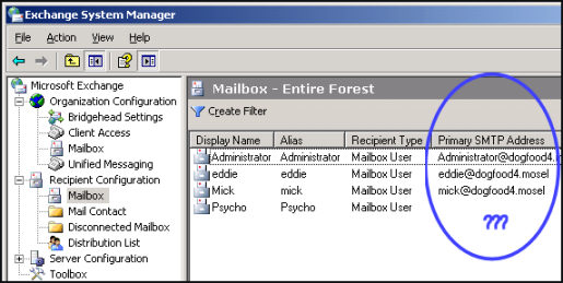 Problem creating a mailbox in Exchange 2007.  Exchange System Manager.