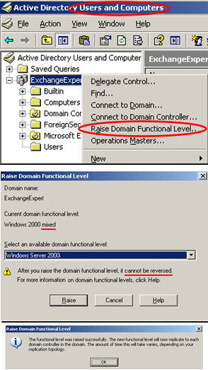 Domain Function Level at least Windows Server 2000 Native (not mixed).