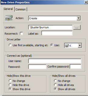 Group Policy Preferences Map Network Drive