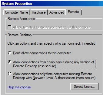 Windows Server 2008 Remote Desktop