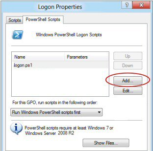 Assign PowerShell 3.0 Logon Script