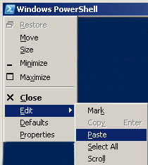 PowerShell copy and paste