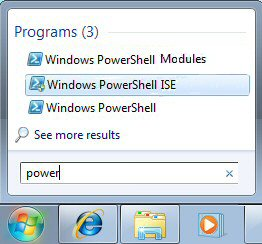 Microsoft PowerShell in Windows 7