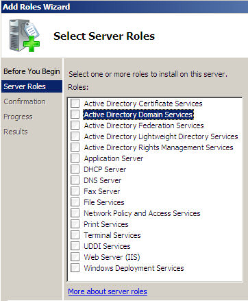 Add Roles Wizard Server 2008