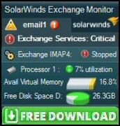 Free Download of Exchange Monitor from SolarWinds