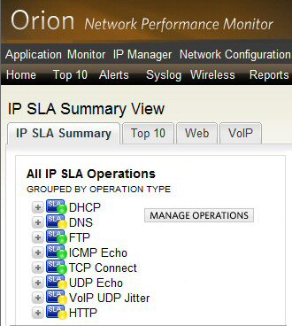 Monitor a network with Orion Network Performance Monitor