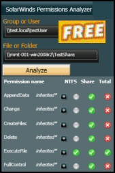 Solarwinds Free Download of Permissions Analyzer