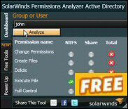 Free Permissions Analyzer for Active Directory
