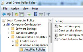 AutoPlay Group Policy Windows 8