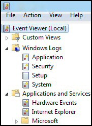 Windows 8 Event Viewer