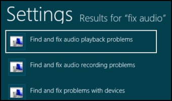 Troubleshooting Windows 8 Audio Fix Problem