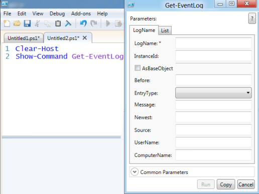PowerShell Show-Command Get-Event