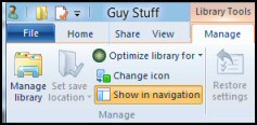 Windows 8 Library Ribbon