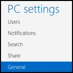 PC Settings General
