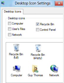 how to change recycle bin icon win 10