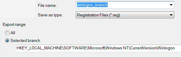 Windows 8 Registry Export