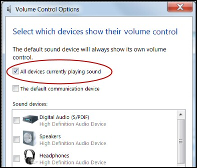 Windows 8 Sound Volume Control