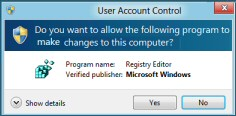 Disable the Windows 8 UAC