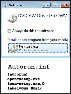 What are autoplay and autorun