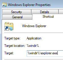 Disable Windows 7 Libraries