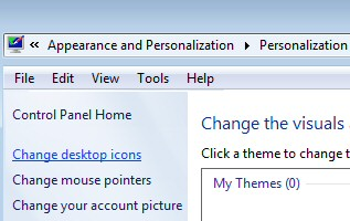 Windows 7 Desktop Icon Settings
