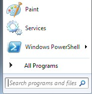 Windows 7 Search Programs and Files