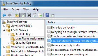 Windows 2003 Force Shutdown Group Policy