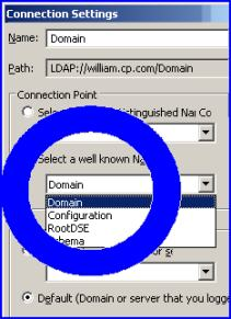 ADSI Edit Domain and Configuration partitions