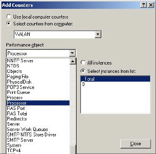 Add counters to System Monitor