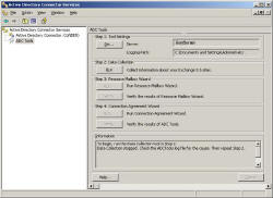 ADC connection Wizard for Exchange 2003