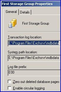 Circular Logging Exchange 2003