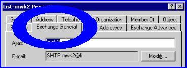Microsoft Exchange 2003 recipients