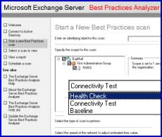 ExBPA Exchange Server Best Practice Analyzer  - Health Check