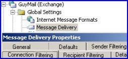 Global Settings in Exchange 2003