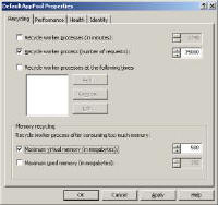 IIS Configuration Recycling processes