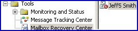 Mailbox Recovery Center.  Exchange 2003