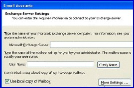 Use Local Copy of Mailbox  Outlook 2003 Cached Mode For Exchange