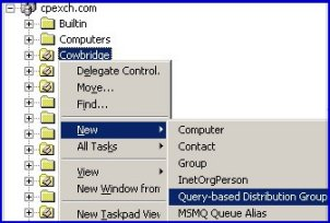 Query-based distribution group Exchange 2003