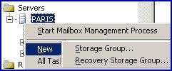 Recovery Storage Group.  New in  Exchange 2003 Server