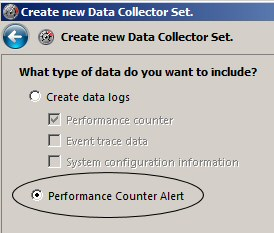 Data Collection Alerts - Windows 2008