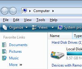 Windows Vista Alt Key for Tools menu